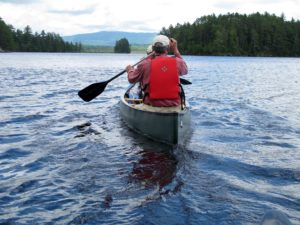 Paddling in the Moosehead Lake region.