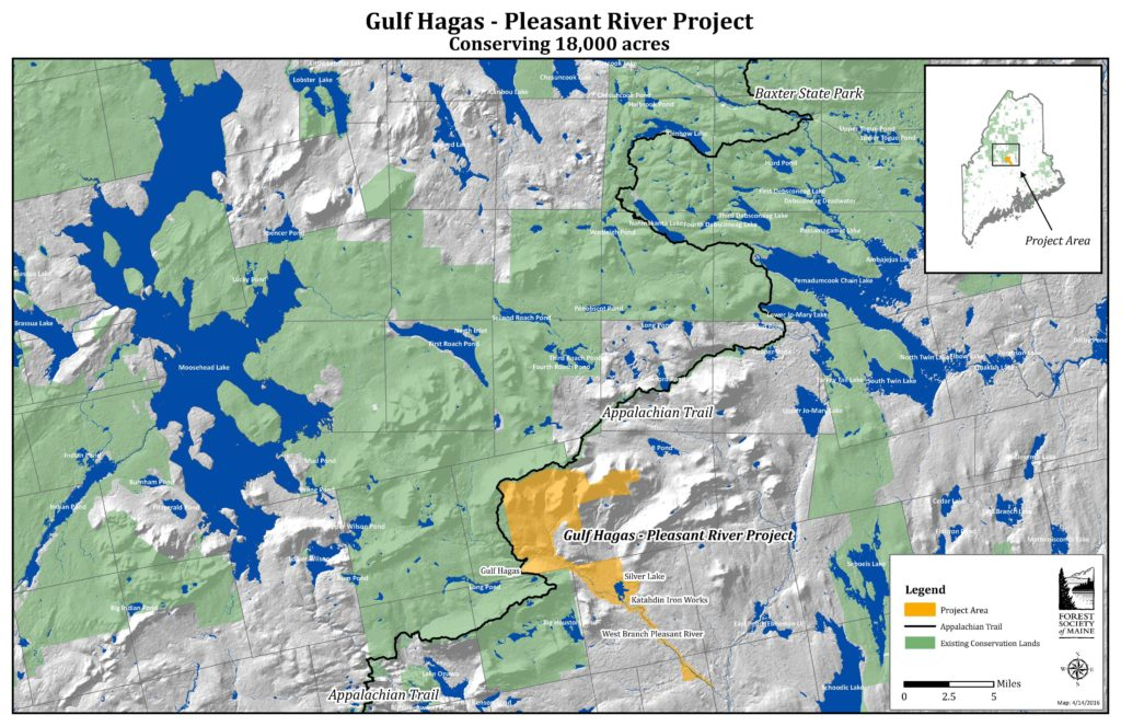 Gulf Hagas - Pleasant River Project Map